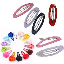 50 Color Hair Bendies Seepies Snap Clips Slide for Girls Kids Hair Accessory