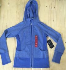 NWT Womens ACTIVE LIFE Royal Blue Full Zip Hooded Sweater Jacket Size XL