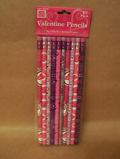 Ten Pack of no.2 Valentine Themed Pencils New Unopened