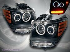 07 - 11 DODGE NITRO CCFL HALO PROJECTOR HEADLIGHTS W/ LED PARK SIGNAL BLACK NEW