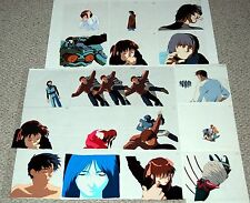 Vintage GENOCYBER 32pc Matching Anime Manga Cel & Art Lot Collection