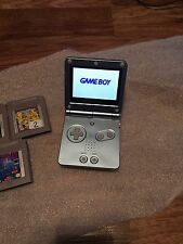 Game Boy Advance, GBA SP Pearl Blue System AGS 101 Bundle + 5 Games