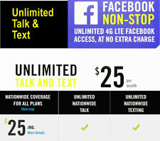 Go Smart 1st Month $25 Prepaid Plan Nano Sim Package Unlimited Talk & Text