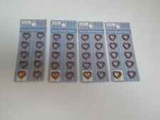 """Jewelry Fundamentals 1/2"""" Heart Bead Frames -Copper Toned - 4 Packages"""
