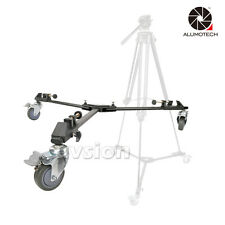 For 717/718 Pro Pulley Universal Folding Tripod Dolly Base Stand Cam 3 Wheels