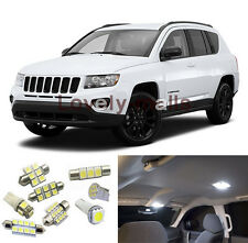White LED Interior Lights Package 6PCS for 2007 2008-2015 Jeep Patriot Compass