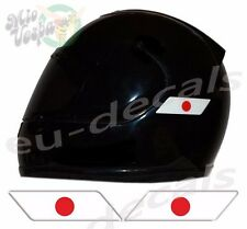 Helmet Japan Japanese Flags 3D Decals Set Left and Right sticker motorcycle car