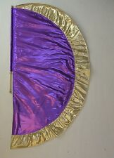 Purple/Gold  Angel's Wing Flag with Pole - Christian Worship Dance