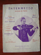 Intermezzo - Souvenir De Vienne - A Love Story - 1936 sheet music - Piano