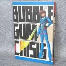 BUBBLEGUM CRISIS Art w/Poster OVA Illustration Book BN96*
