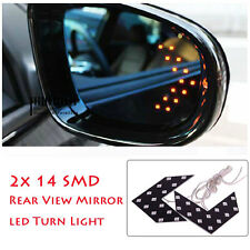 2 Pcs LED Arrow Panel light Car Rear View Mirror Indicator Turn Signal : Yellow