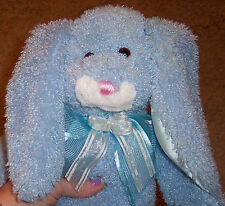 """Caltoy Easter Bunny Blue Lopped Rabbit Soft Plush 16"""" Tall Ages 3 & Up Huggable"""