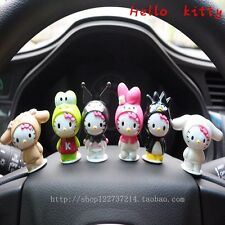 New Fashion 6 Pieces Cute Cats Girl Dolls Car Decoration Interior Accessories