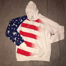 Nike Air Jordan RETRO VII 7 Stars And Stripes USA Flag Hoodie 848267 100 Sz 2XL