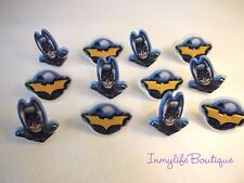 24 BATMAN Marvel Super Hero Cupcake Ring Favor Supplies Rings Topper Birthday C