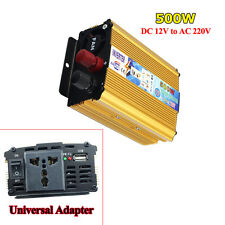 500W Modified Sine Wave Power Inverter Charger DC 12V to AC 220V For Electronic
