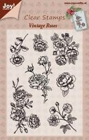Joy Crafts  - Clear Rubber Stamps - ROSES  - 6410/0351 Reduced