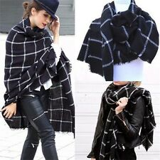 Women Warm Large Tartan Check Plaid Scarf Shawl Blanket Wraps Pashmina Stole