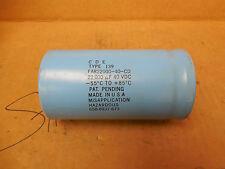 CDE Capacitor FAR22000-40-CD FAR2200040CD 22000 uF 40 VDC -55ºC to +85ºC New