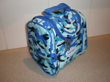 Tupperware bag lunch insulated boys camoflage blue New