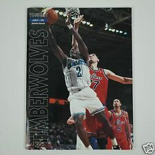 Larry Johnson MN Timberwolves Game Program - March 1, 1996 - Charlotte Hornets