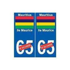 Ile Maurice Mauritius sticker autocollant plaque numéro au choix droits