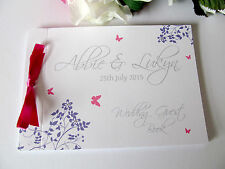 Personalised Guest Book Wedding Birthday Baby Shower Engagement Party Baptism