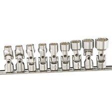 9PC Metric Wobbly Universal Joint Hand Swivel Socket Set Genius Tools-US-209M