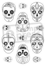 A6 'Candy Skull Collection' Unmounted Rubber Stamp (SP004405)