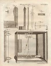 1797 Georgian print ~ hygromètre échelles diverses appartus