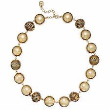 Ralph Lauren Goldtone Statement Bead Collar Necklace