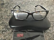 NEW AUTHENTIC RAY BAN RX5228 HAVANA BROWN 2012 EYEGLASSES 53mm