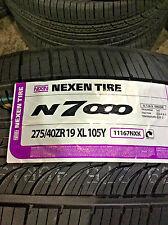 2 New 275 40 19 Nexen N7000 Tires