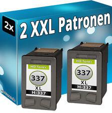 2x TINTE PATRONEN für HP 337 XL DeskJet 5940 6940 DRUCKER PATRONE