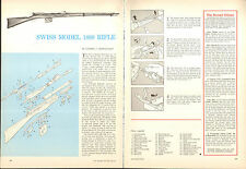 1964 2 Page Print Article of Swiss Model 1889 Rifle Parts List & Disassembly