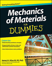 Mechanics of Materials For Dummies by James H. Allen (Paperback, 2011)