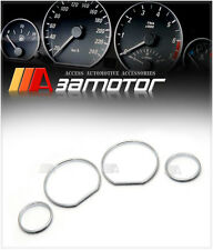 CHROME ABS CLUSTER DASHBOARD GAUGE TRIM RINGS for BMW E36 1992-1998 3-SERIES