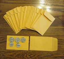 "50 UNIVERSAL KRAFT COIN ENVELOPES #1 SIZE 2.25"" BY 3.5"" WITH GUMMED FLAP"