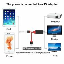 2M Lightning to HDMI/HDTV AV Cable Adapter for iPhone 6/6s/7 PLUS Airplay Mirror