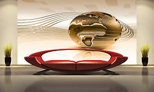 3d Gold Planet Wall Mural Photo Wallpaper GIANT WALL DECOR PAPER POSTER
