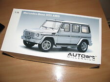 AUTOart-1-18-rare-MERCEDES-BENZ G55 AMG VERSION - SILVER-76247 Used mint