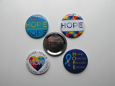 Autism Awareness Ribbon Puzzle Hope Buttons (set of 6)