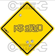 FORD ESCORT RS2000  - Bullet Hole Road Sign Sticker #35