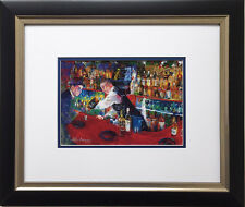 "LeRoy Neiman ""Frank at Rao's"" Newly CUSTOM FRAMED Art Print Sinatra NYC italian"