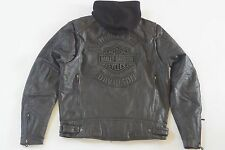 Harley Davidson Men Black Guard Reflective Leather Jacket 3n1 97109-09VM XL Tall