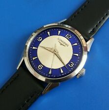 Exquisite 1960s Vintage Mans LONGINES Hand Windin, Stunning 2Tone Dial!