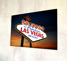 Welcome to Fabulous Las Vegas Nevada A4 metal plaque Shabby Chic