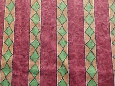 Unusual Vintage Designers Guild Striped Abstract Cotton Interiors Fabric Tessera