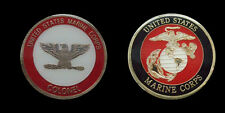 US MARINE CORPS COLONEL RANK CHALLENGE COIN MILITARY COLLECTIBLE COINS