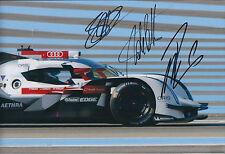 AUDI 6hr Endurance Signed Photo Autograph AFTAL COA LOTTERER FASSLER TRELUYER